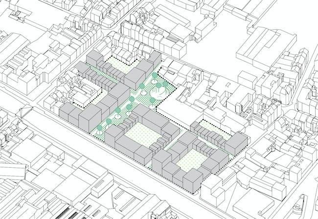 2019 19 Kanaalzone Heyvaert project scheme axo proect