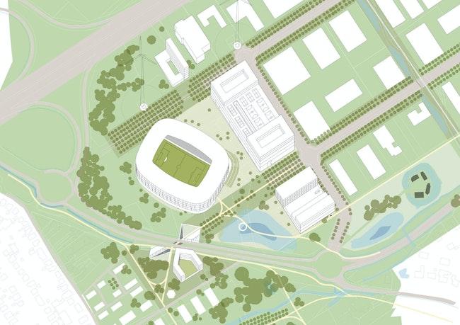 KVK Stadium copyright B architecten and BRUT axometrie